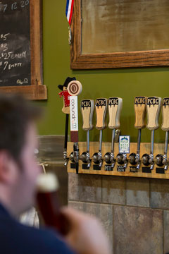 Pateros Creek Brewing Company's line of draught beverages - which now includes Conundrum Coffee Nitro - a cold, non-alcoholic coffee drink.